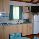 Our deluxe cabin - Kitchen/Living area