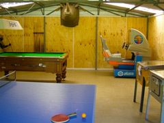 Recreation Room, Pool table, air hockey.